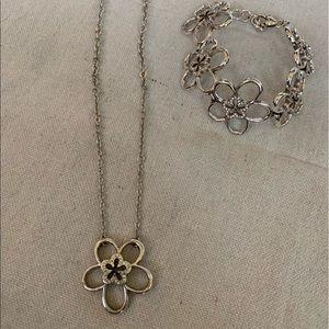Brighton Flower Necklace and Bracelet Set
